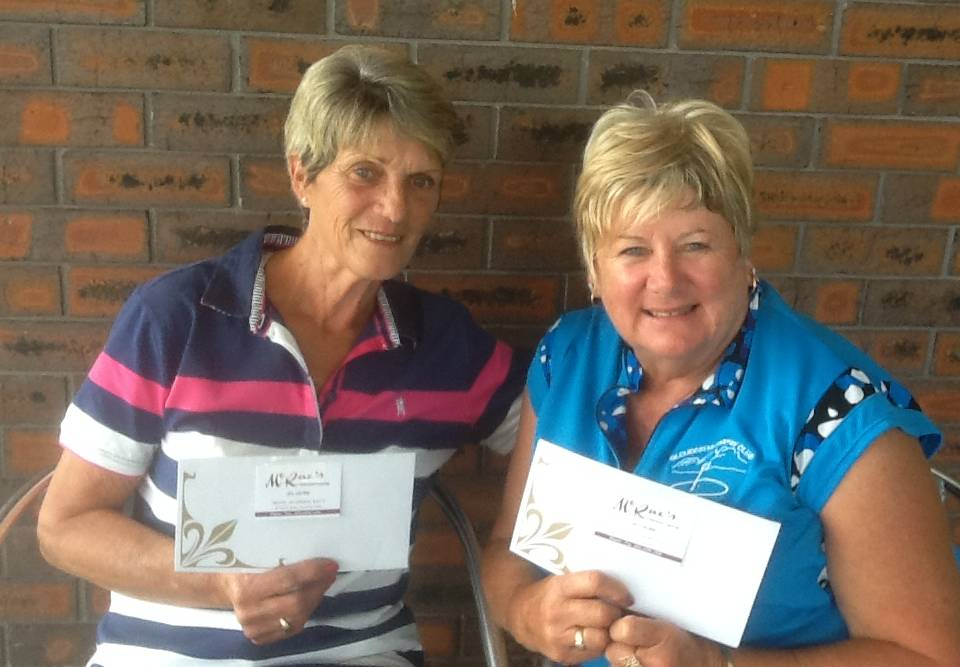 Gloucester Women's Golf Club winners are Ev Blanch (division 1) and Rhonda Nightingale (division 2). Photo supplied